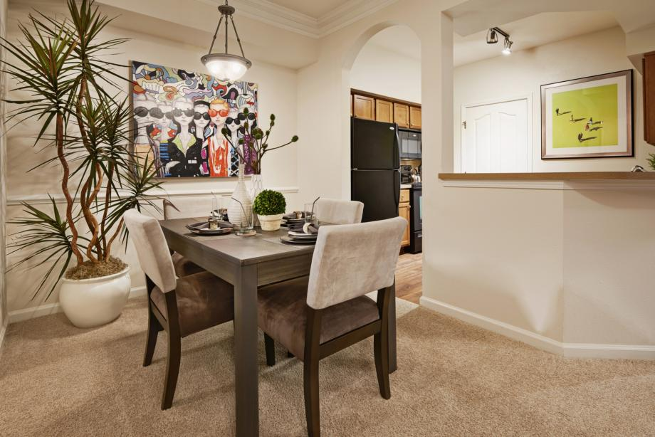 Open Concept Dining Room at Camden South Bay Apartments in Corpus Christi, TX