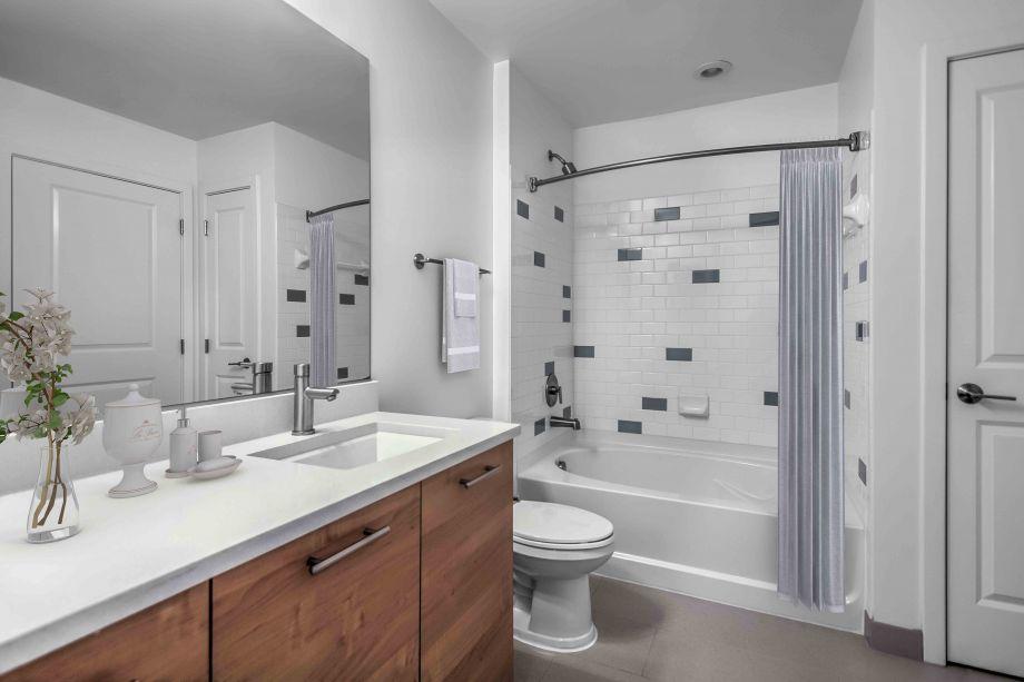 Bathroom at Camden South Capitol Apartments in Washington, DC