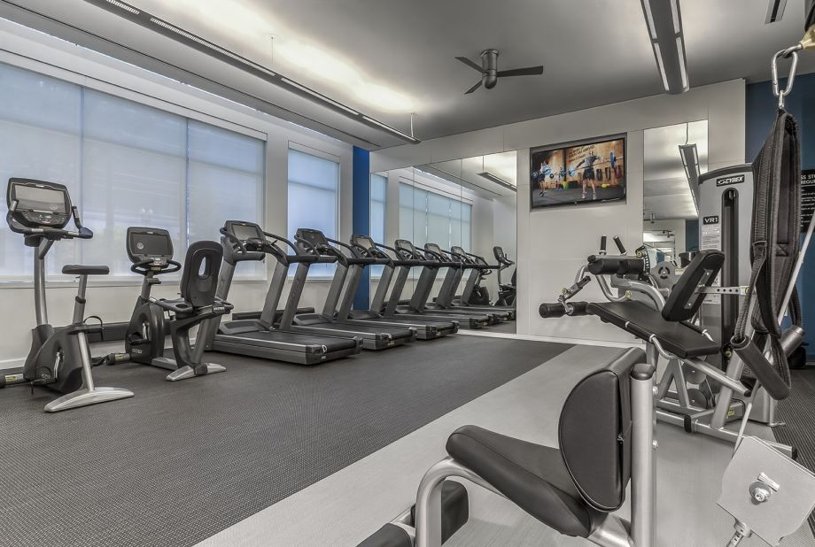 Fitness Center with Cardio Equipment at Camden South Capitol Apartments in Washington, DC