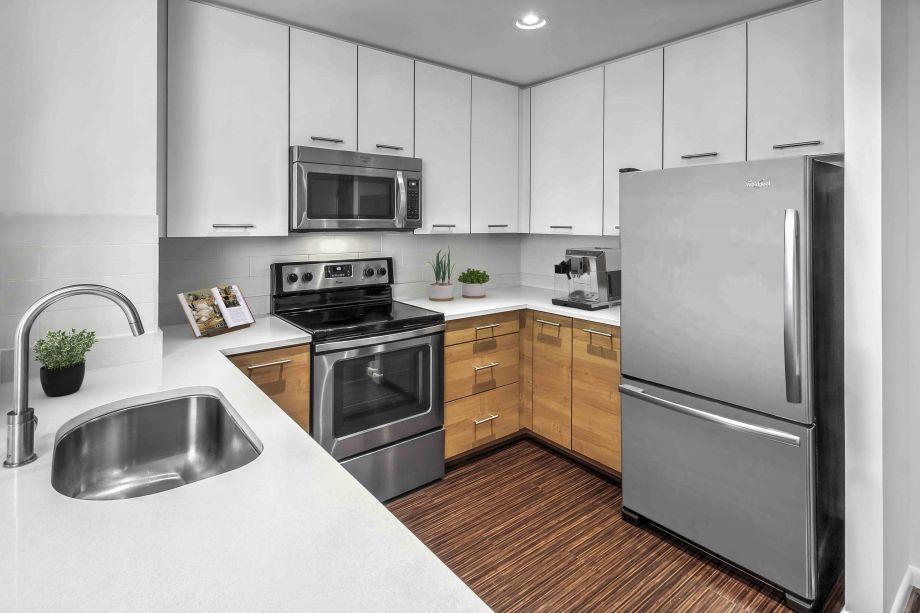 Kitchen at Camden South Capitol Apartments in Washington, DC