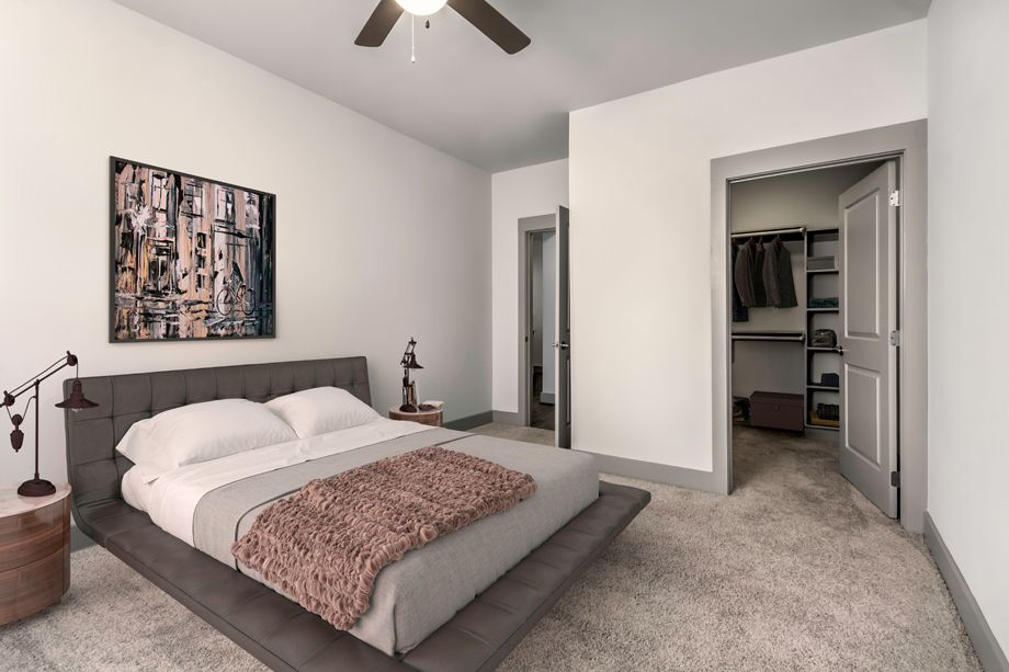 Second bedroom at Camden Southline apartments in Charlotte, NC
