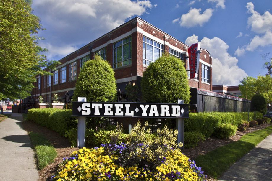 Steel Yard shopping and dining near Camden Southline apartments in Charlotte, NC
