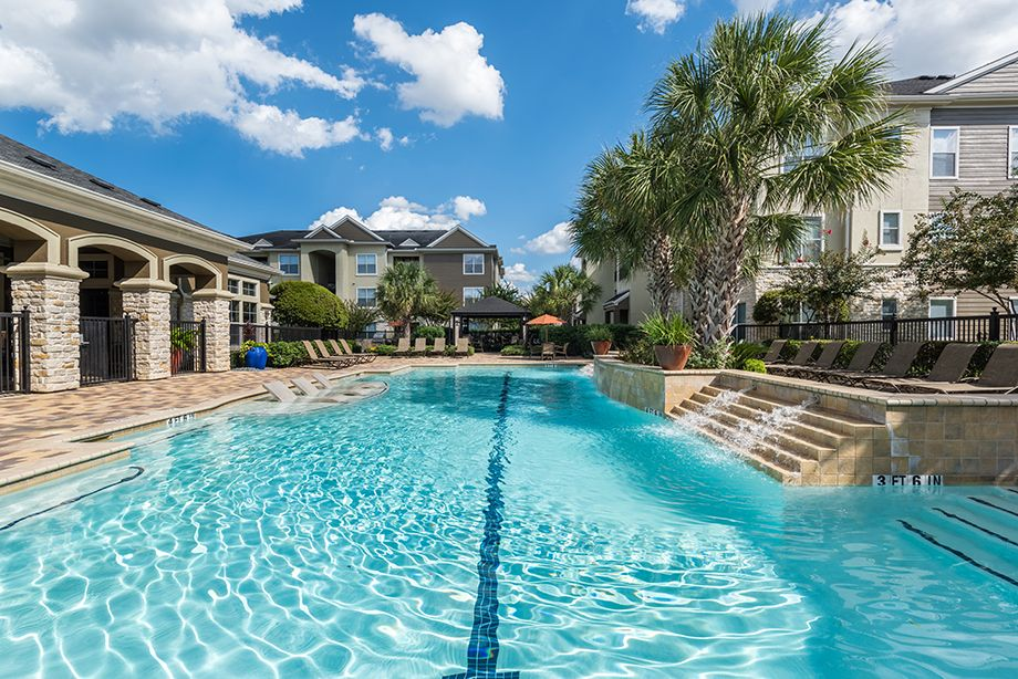 Resort-Style Swimming Pool at Camden Spring Creek Apartments in Spring and The Woodlands, TX