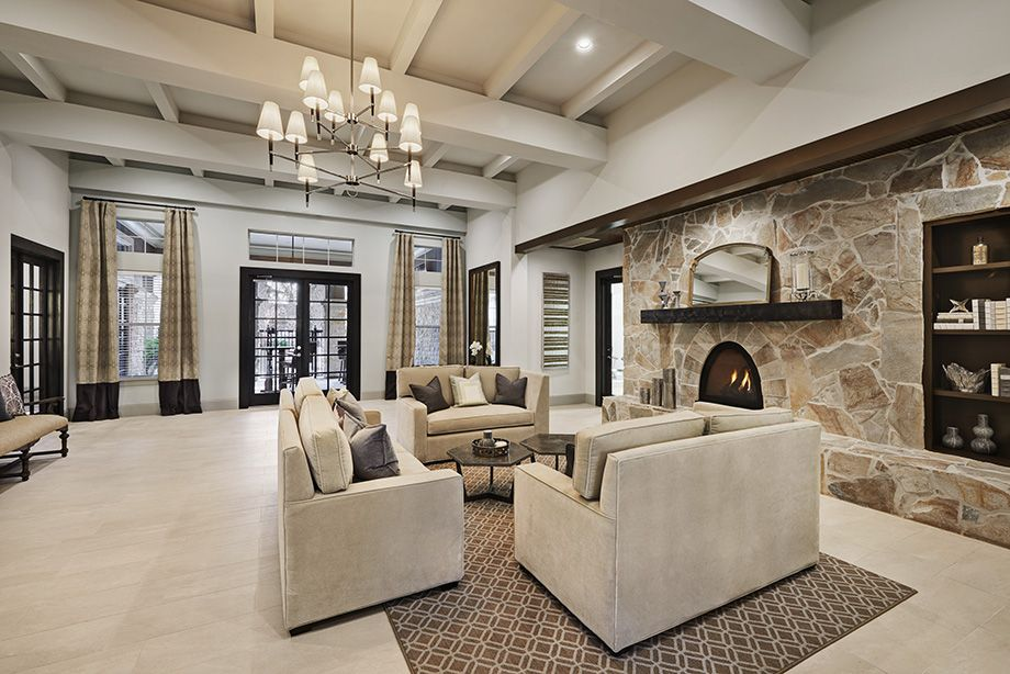Leasing Center Lobby at Camden Spring Creek Apartments in Spring and The Woodlands, TX