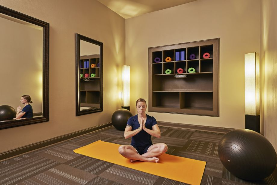 Yoga Room in Fitness Center at Camden Stoneleigh Apartments in Austin, TX