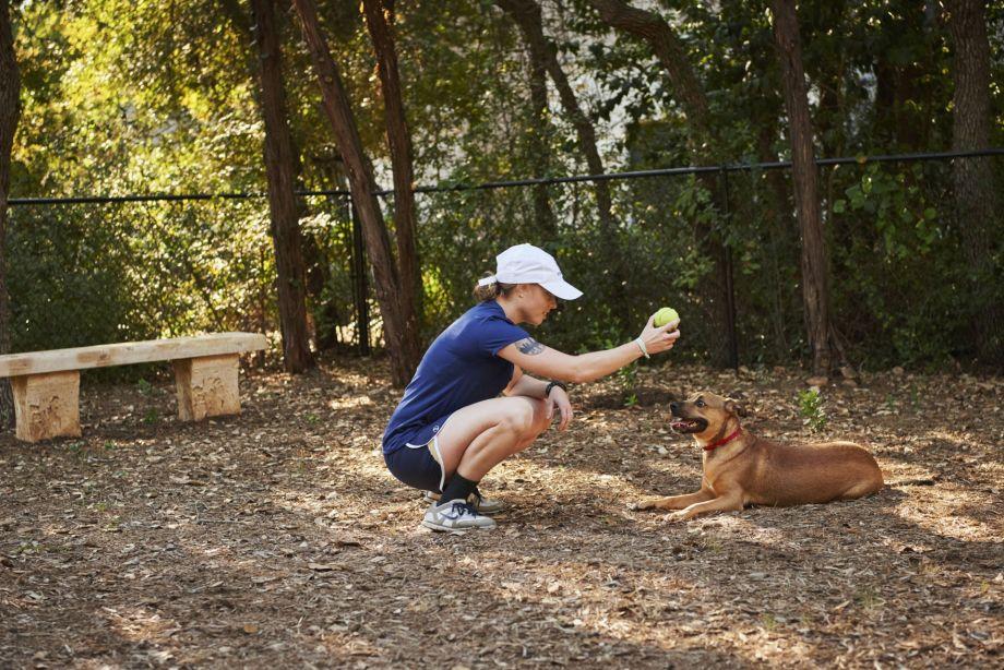 Dog Park at Camden Stoneleigh Apartments in Austin, TX