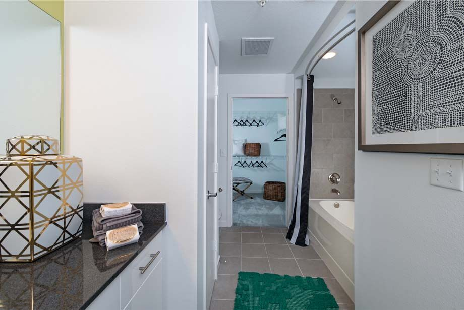 Model Bathroom at Camden Thornton Park Apartments in Orlando, FL