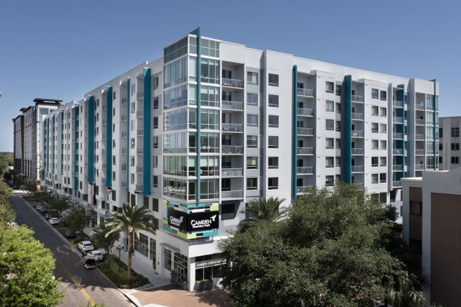 Exterior apartments at Camden Thornton Park Apartments in Orlando, FL