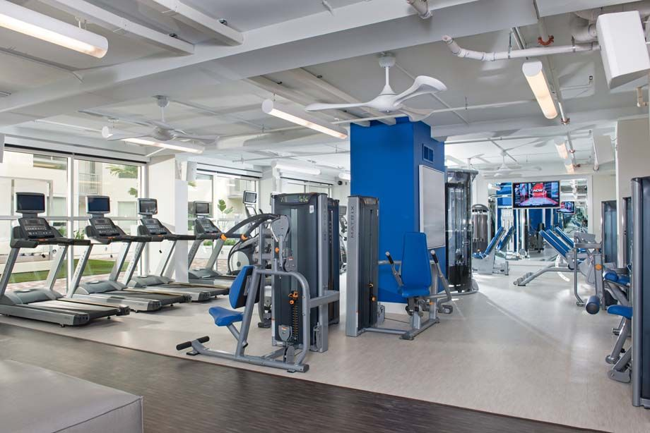 Fitness Center at Camden Thornton Park Apartments in Orlando, FL