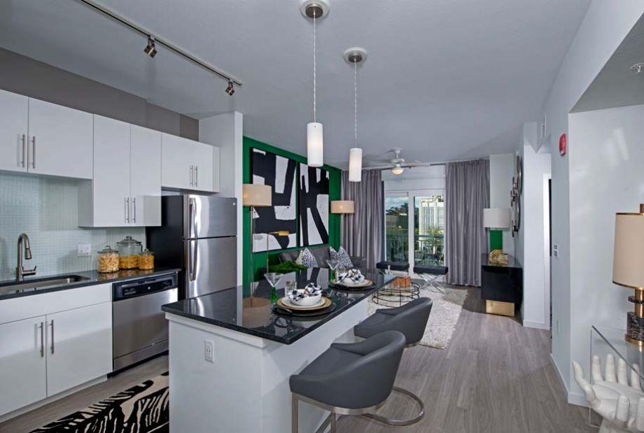 Model Kitchen at Camden Thornton Park Apartments in Orlando, FL