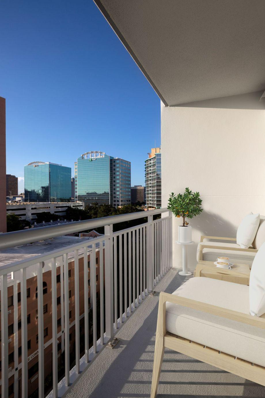 Balcony at Camden Thornton Park Apartments in Orlando, FL