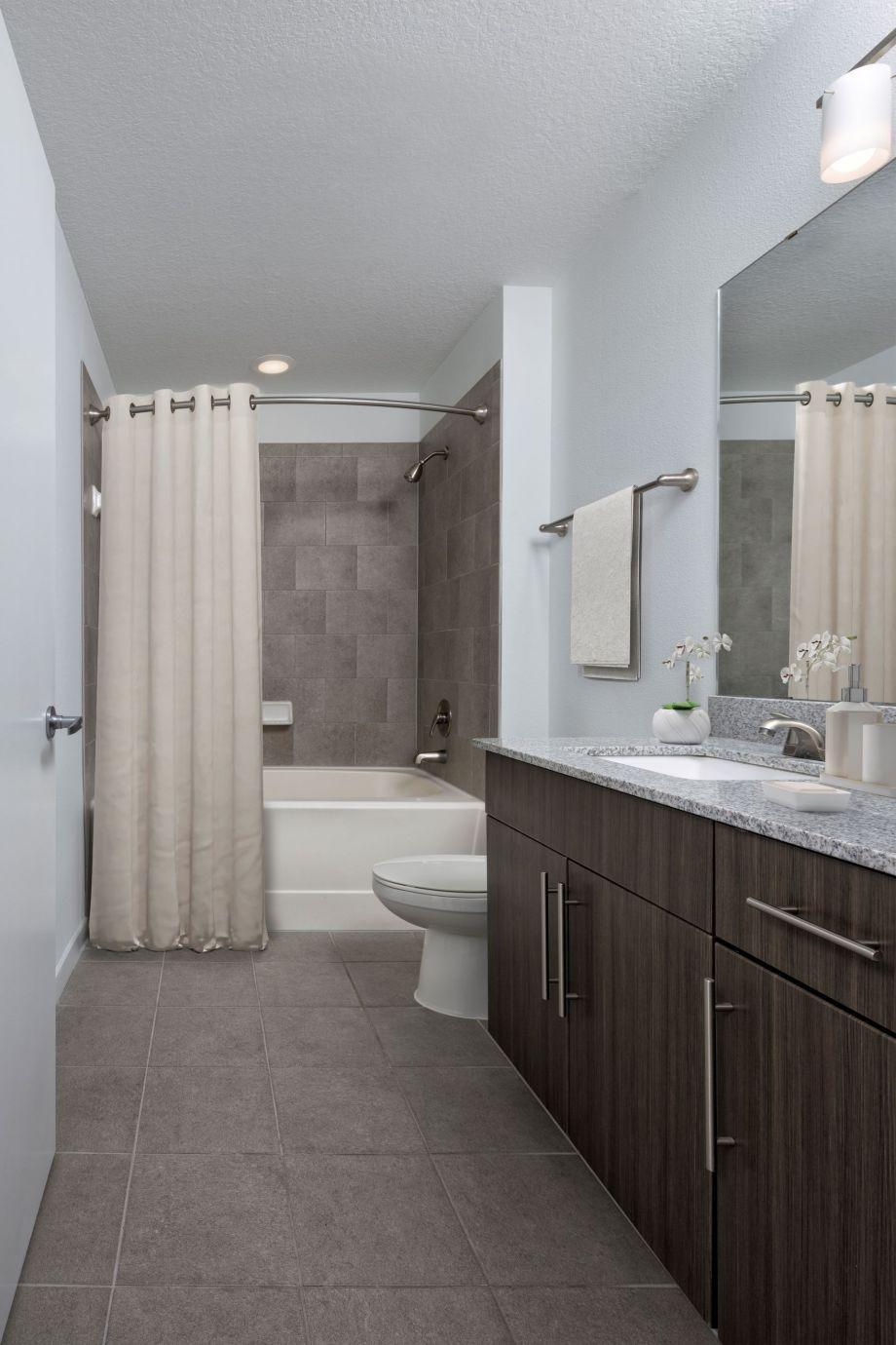 Bathroom at Camden Thornton Park Apartments in Orlando, FL