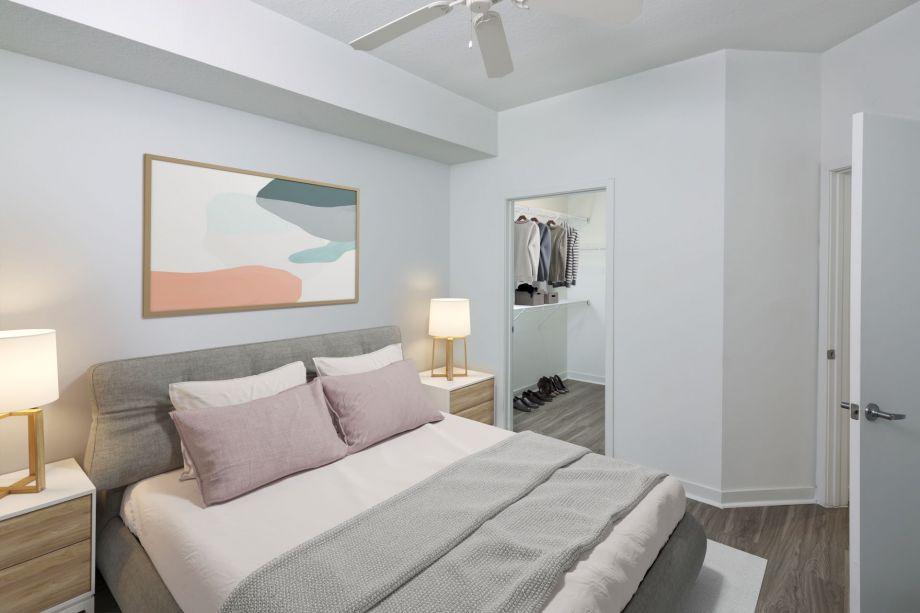 Walk In Closet at Camden Thornton Park Apartments in Orlando, FL