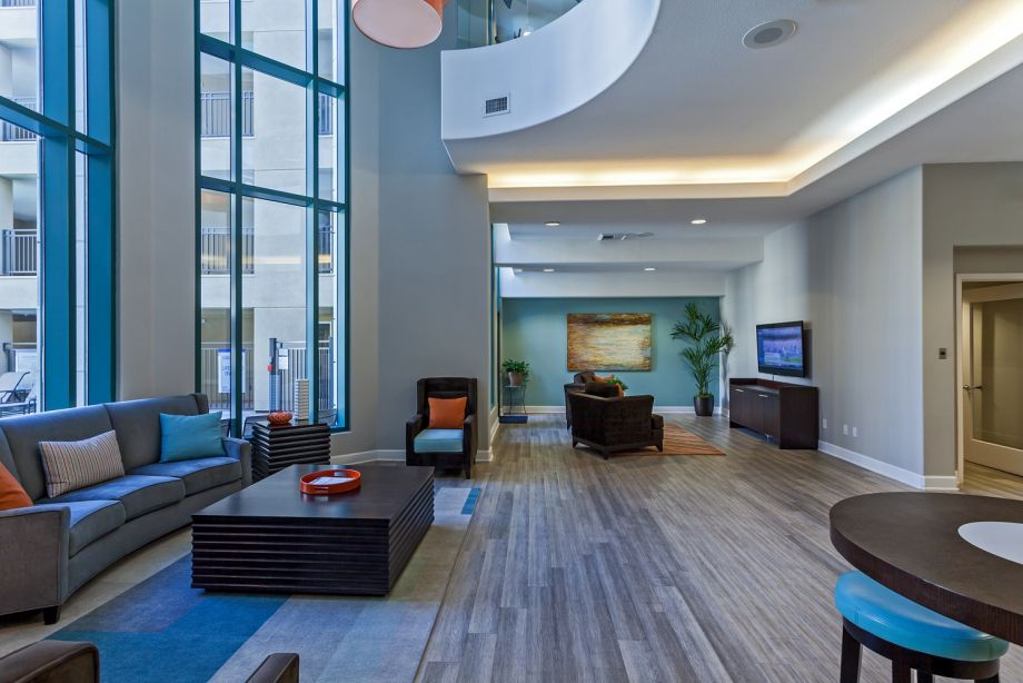 Resident Lounge with TV at Camden Tuscany Apartments in San Diego, CA