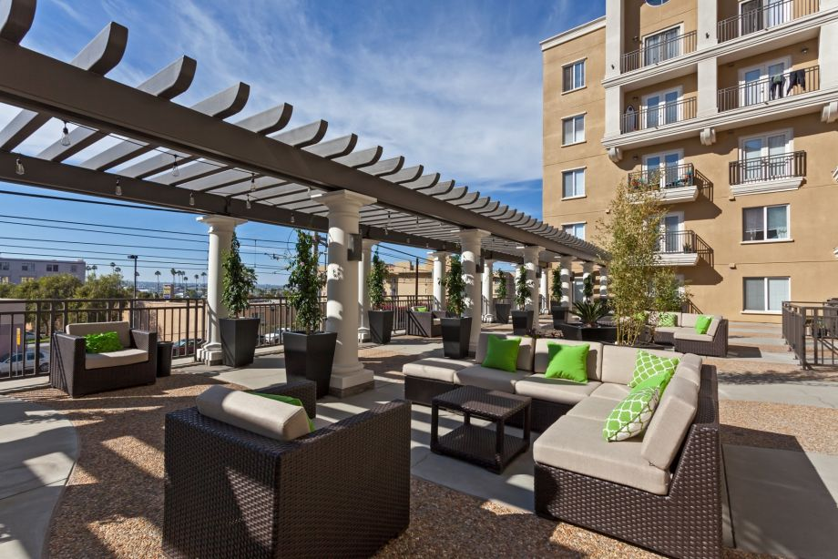 Outdoor Lounge at Camden Tuscany Apartments in San Diego, CA