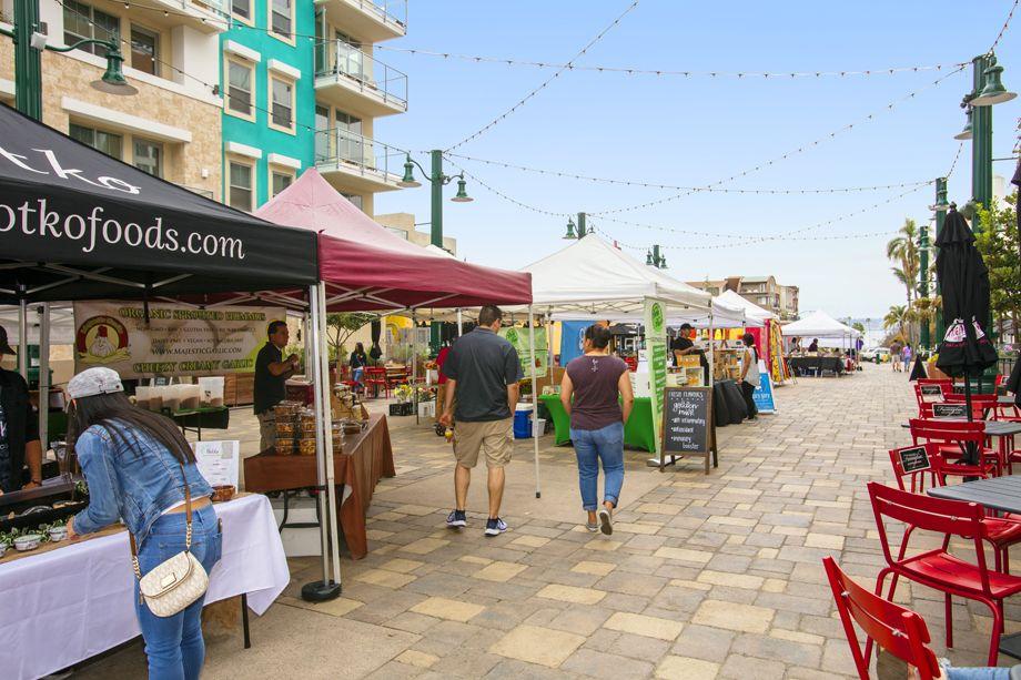 Farmer's Market near the Camden Tuscany Apartments in San Diego, CA