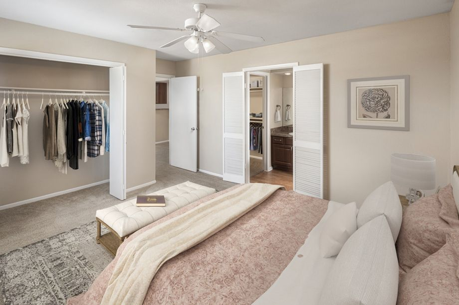 Bedroom at Camden Valley Park Apartments in Irving, TX