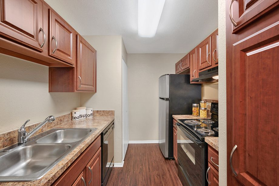 Kitchen at Camden Valley Park Apartments in Irving, TX