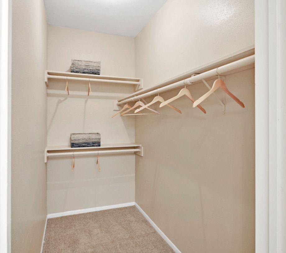 Closet at Camden Valley Park Apartments in Irving, TX