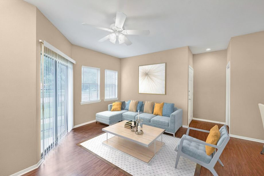 Living Room at Camden Valley Park Apartments in Irving, TX