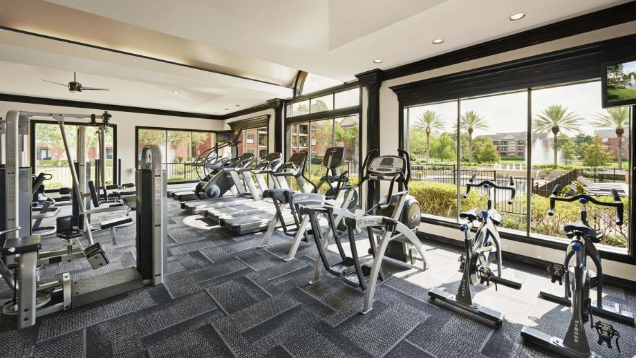 Fitness Center at Camden Vanderbilt Apartments in Houston, Texas