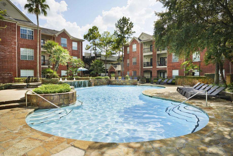 Pool at Camden Vanderbilt Apartments in Houston, Texas