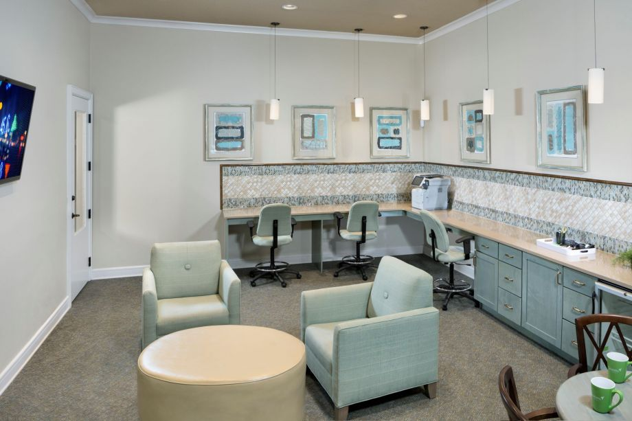 Community Workspace at Camden Westchase Park Apartments in Tampa, FL