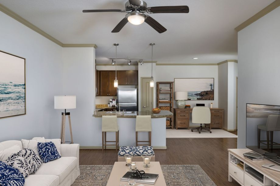Home Office at Camden Westchase Park Apartments in Tampa, FL