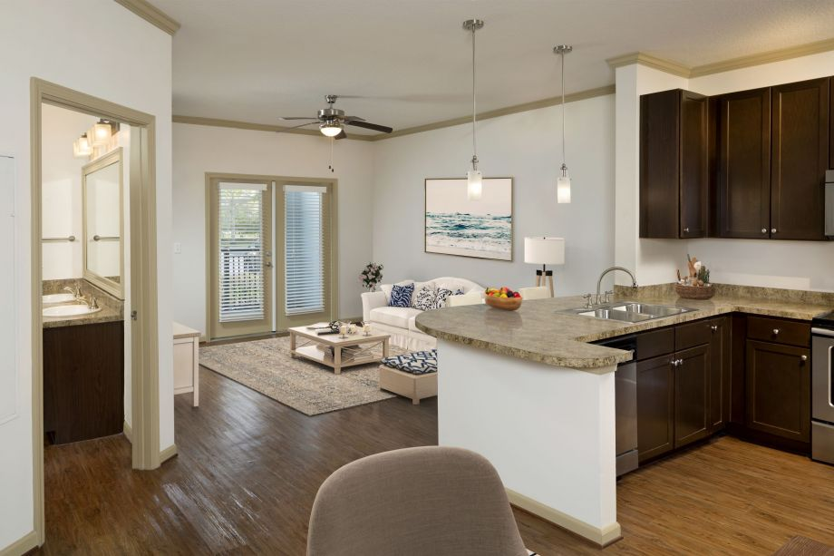 Living Room at Camden Westchase Park Apartments in Tampa, FL