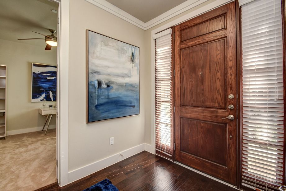 Private Entrance at Camden Highland Village townhomes in Houston, TX