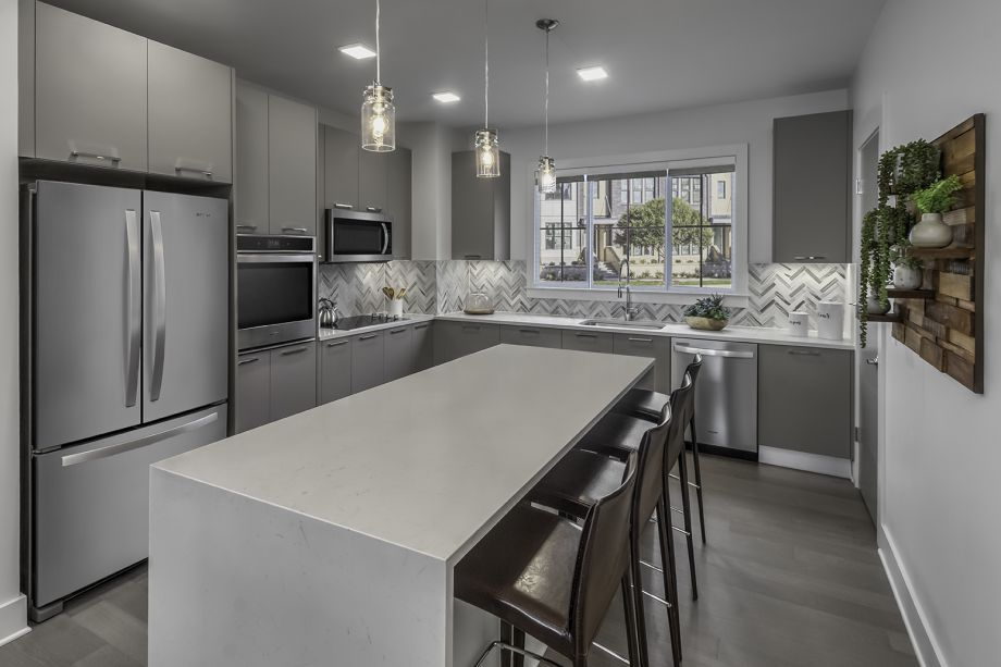 Kitchen at Camden Grandview Townhomes in Charlotte, NC