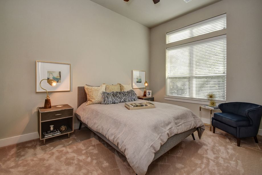 Second Bedroom at Camden Highland Village townhomes in Houston, TX