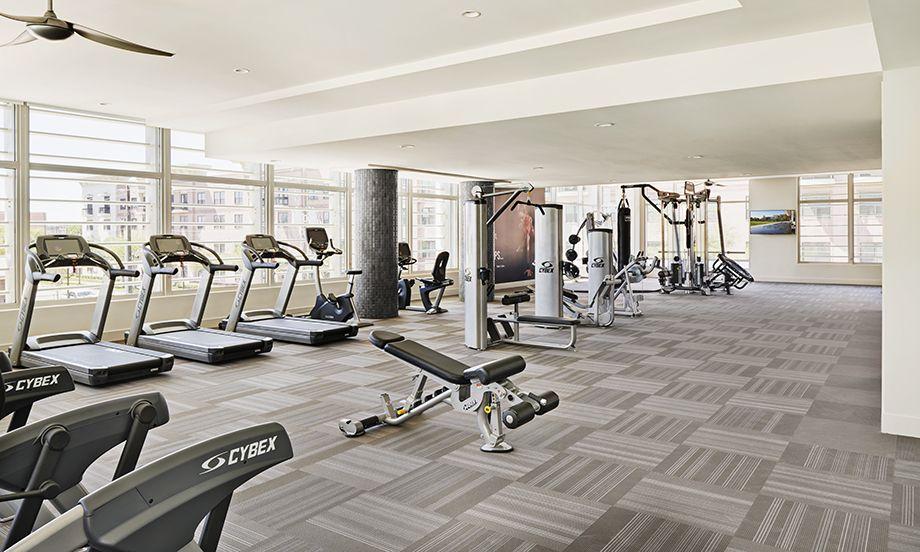 Camden McGowen Station Midtown Houston Townhomes fitness center