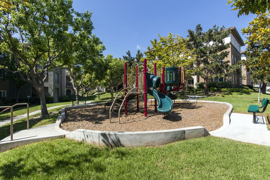 Onsite playground at Camden Sierra at Otay Ranch apartments in Chula Vista, CA