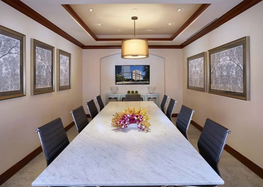 Executive Conference Center with Flat-Screen TV and Free WiFi at Camden Post Oak High Rise Luxury Apartments in Houston Galleria, Texas