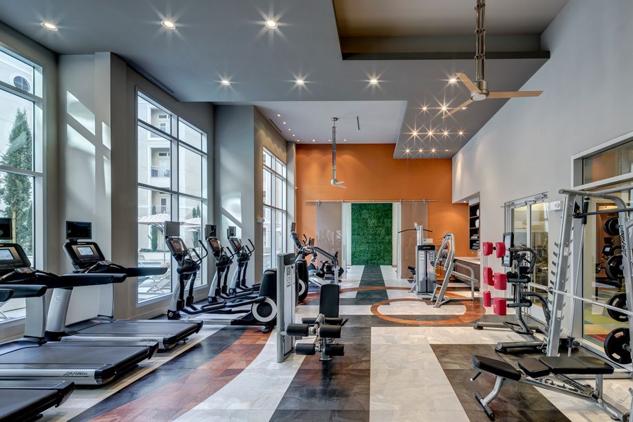 Fitness Center at Camden Highland Village townhomes in Houston, TX