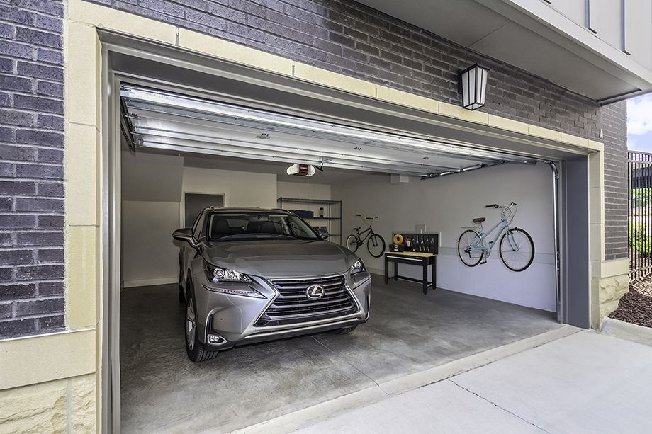 Private Attached Garage at Camden Grandview Townhomes in Charlotte, NC