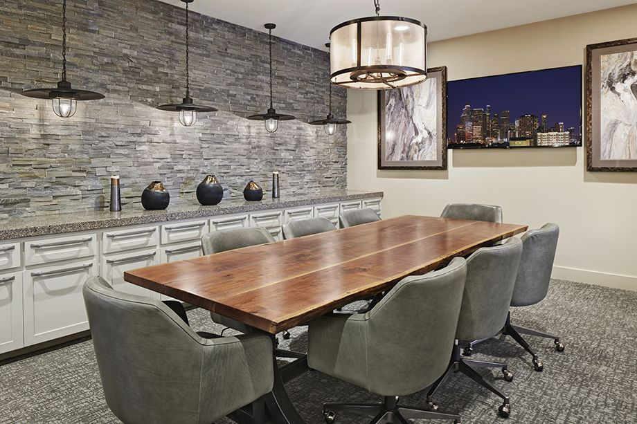Camden McGowen Station Midtown Houston Townhomes executive conference room