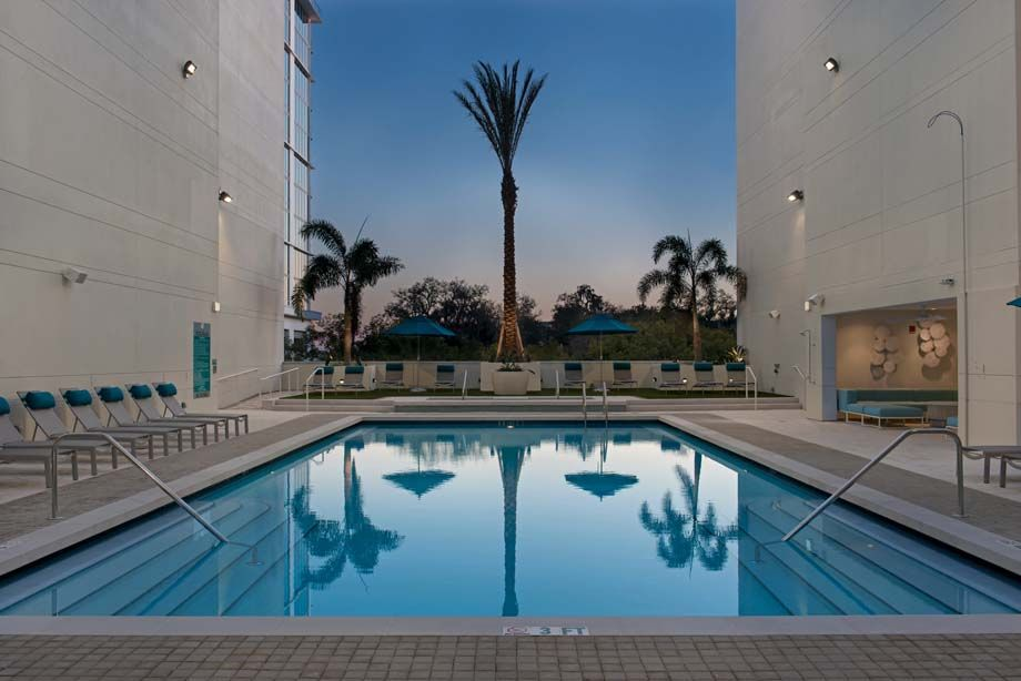 Swimming pool at Camden Thornton Park apartments in Orlando, FL