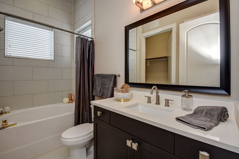 First Floor Bathroom at Camden Highland Village townhomes in Houston, TX