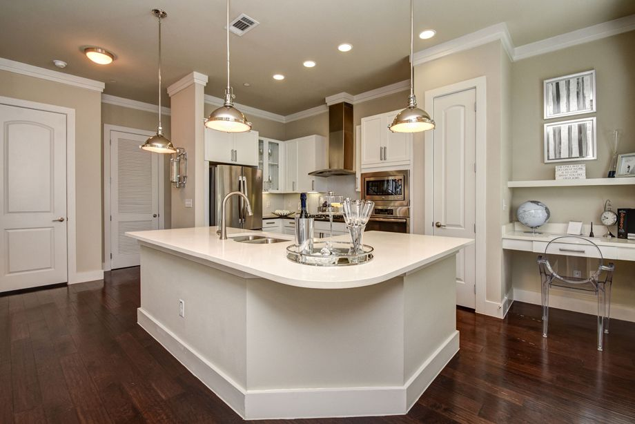 Kitchen at Camden Highland Village townhomes in Houston, TX