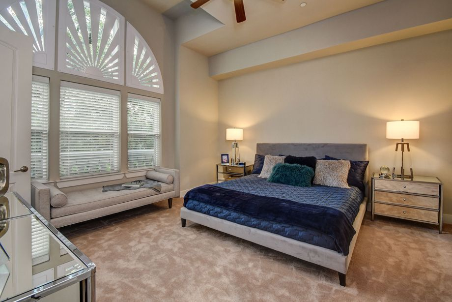 Main Bedroom at Camden Highland Village townhomes in Houston, TX