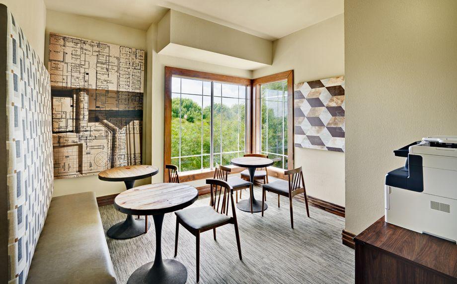 Community Workspace at Camden Cedar Hills apartments in Austin, TX