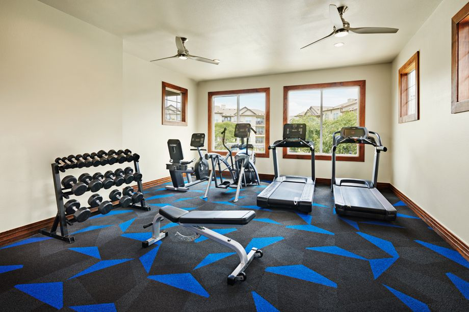 Fitness Center with Cardio Equipment at Camden Cedar Hills apartments in Austin, TX