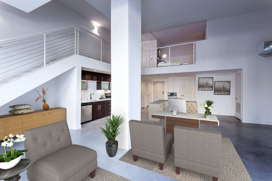 Live/Work Office Rendering Option at Camden Glendale apartments in Glendale, CA