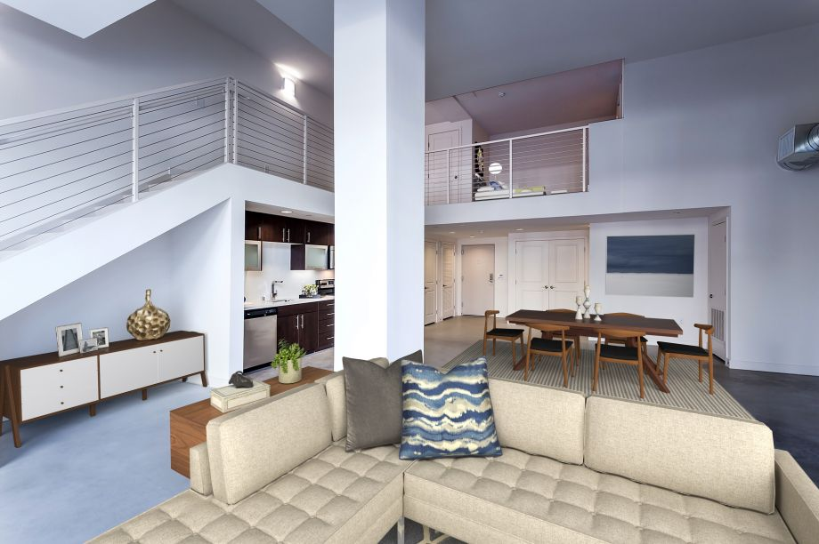 Live/Work Meeting Rendering Option at Camden Glendale apartments in Glendale, CA