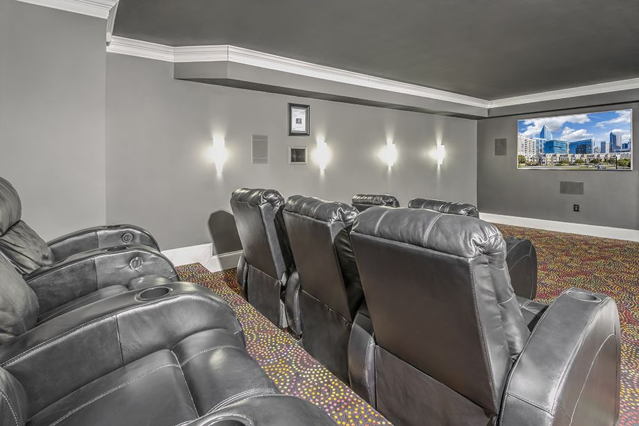 Media Room at Camden Grandview Townhomes in Charlotte, NC