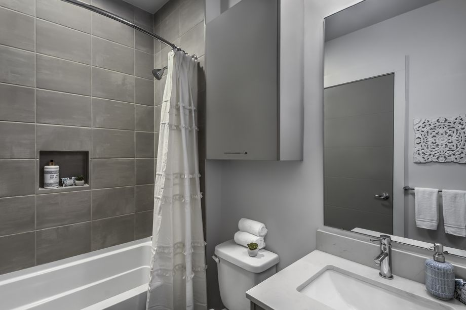 Guest Bathroom at Camden Grandview Townhomes in Charlotte, NC