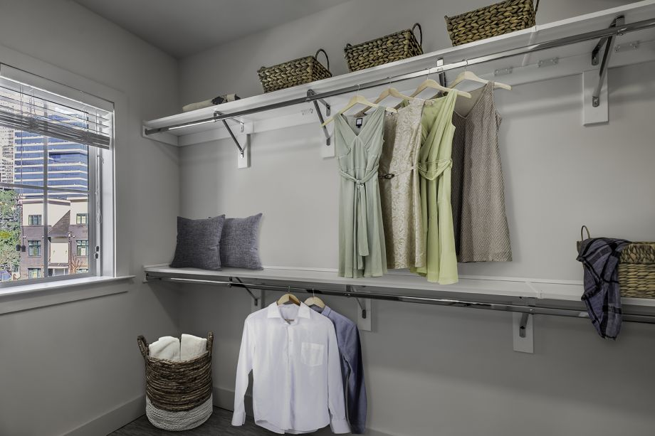 Walk-In closet at Camden Grandview Townhomes in Charlotte, NC