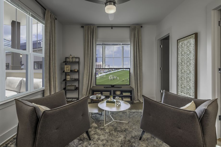 Upstairs flex space at Camden Grandview Townhomes in Charlotte, NC